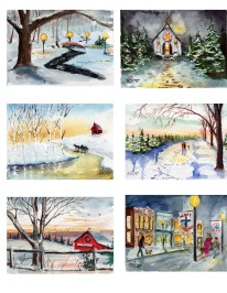 Watercolor Xmas Card Inventory Sheet7
